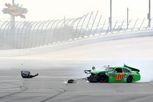 Danica's NASCAR start was a little rocky, as shown by this crash at Daytona.
