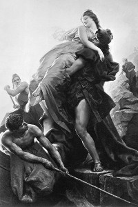 In Greek mythology, Helen of Troy's abduction by Paris started the Trojan War.