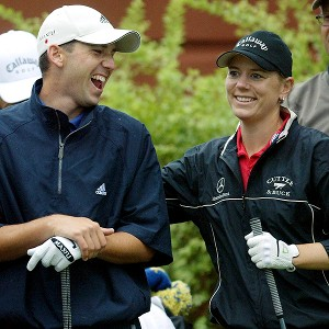 Sergio Garcia (left) didn't mind that Annika Sorenstam joined the men at the PGA's Colonial tourney in 2003. But some of his fellow pros weren't so happy about it.