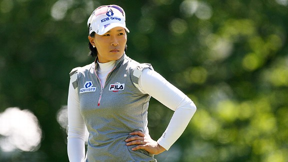 Se Ri Pak has won three LPGA Championships and is just one shot back in this one after the first round.