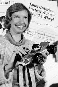 In 1977, Janet Guthrie finished 12th at the Daytona 500 and became the first woman to qualify for the Indy 500. A year later, she zoomed home ninth at the Brickyard, ahead of Mario Andretti, among others.
