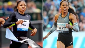 Americans' Allyson Felix and Sanya Richards-Ross could face each other in the 200 meters at the U.S. Olympic trials.