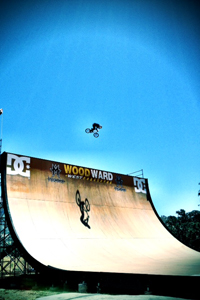 Kevin Robinson back on the MegaRamp at Woodward West in Tehachapi, Calif.