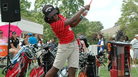 Myah Jackson is the younger of a pair of sisters in Chicago who have been called the Williams sisters of golf.