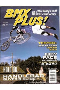 John Rokos in 2002 on the cover of BMX Plus!
