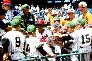 The Little Gophers attended a Minnesota Twins game in 1978 and got to meet Rod Carew.