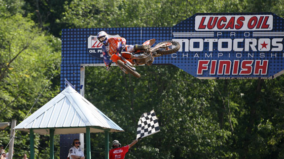 Ryan Dungey at a recent stop of the 2012 Lucas Oil Pro Motocross Championship.