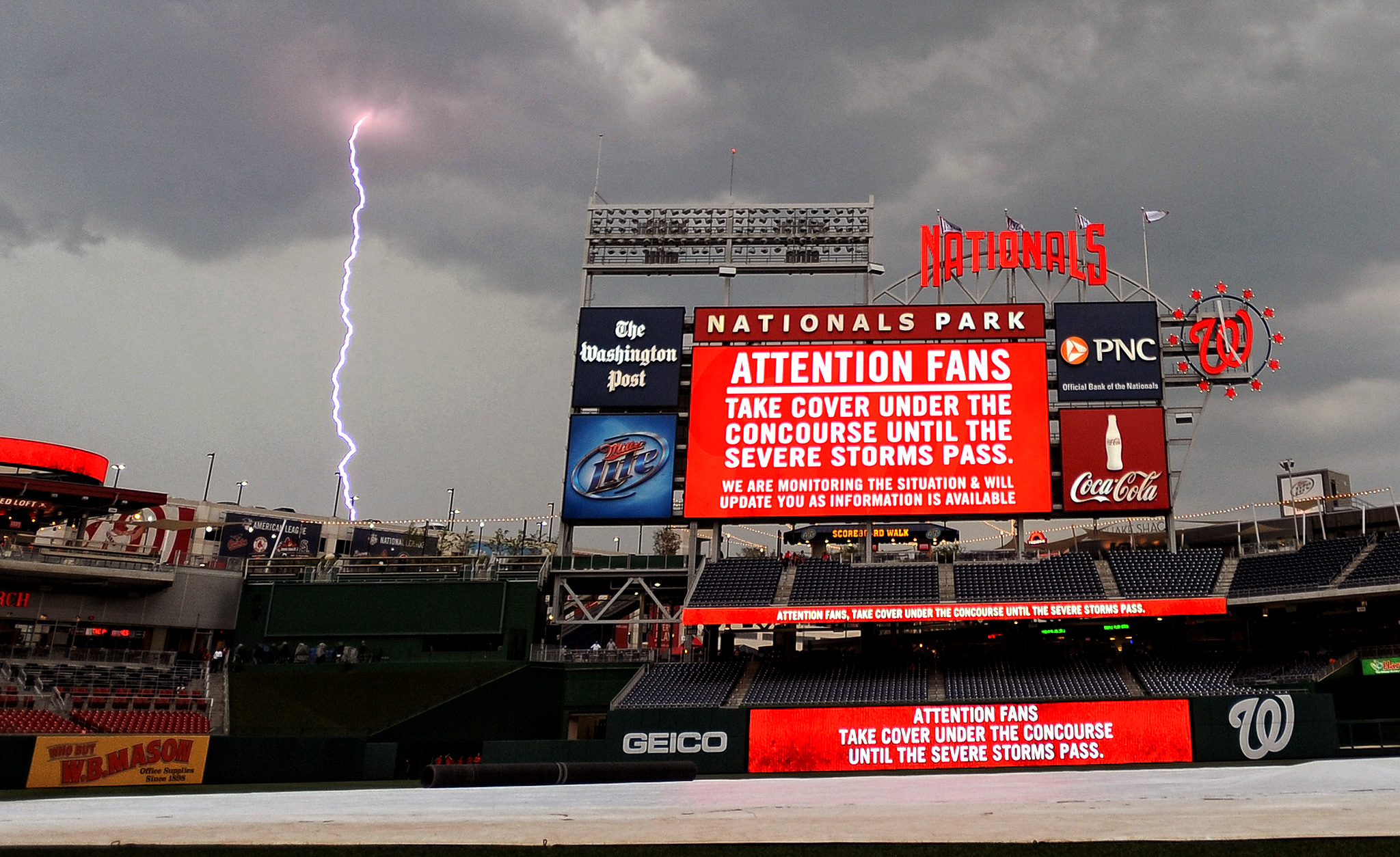 Nationals Park lightning