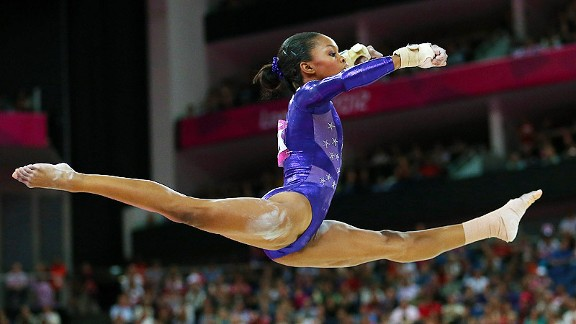 Gabrielle Douglas  knew it would be a good day when she woke up and it was raining.