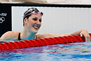 U.S. swimmer Missy Franklin won four gold medals and one bronze at the London Olympics.