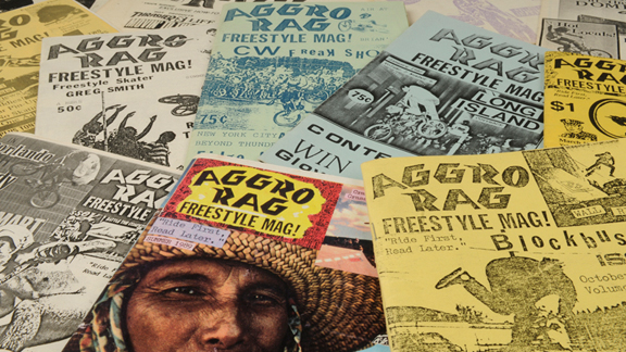 The first 12 issues of Aggro Rag, a zine compiled by Mike Daily and the Plywood Hoods during the '80s.