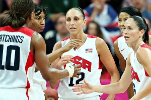 Diana Taurasi and the U.S. women's basketball team routed Canada 91-48 in the Olympic quarterfinals on Tuesday.