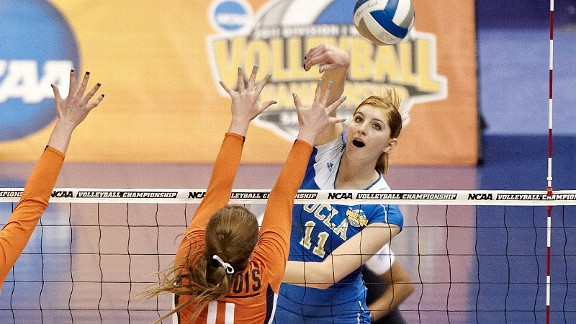 A 6-foot-3 outside hitter, Rachael Kidder was named the NCAA tournament's most outstanding player as UCLA won the national championship last year.
