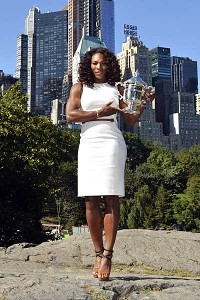 The Tiffany U.S. Open trophy has Serena Williams' name on it for a fourth time.