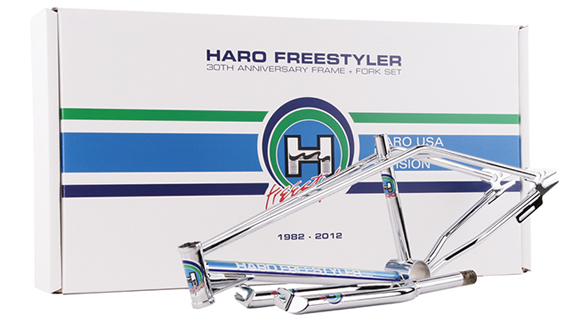 The 30th anniversary Haro Freestyler frame and fork.