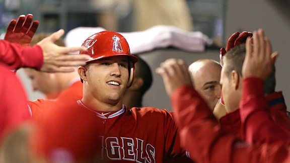 Angles centerfielder Mike Trout had perhaps the greatest rookie season in history, but what will he do for an encore?