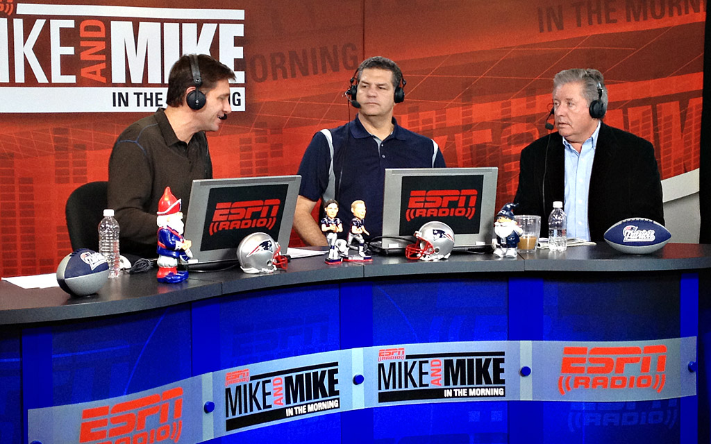 Mike and Mike in Foxboro