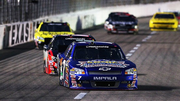 Danica Patrick finished eighth at Texas in the spring and was in the top 10 much of the night Saturday.