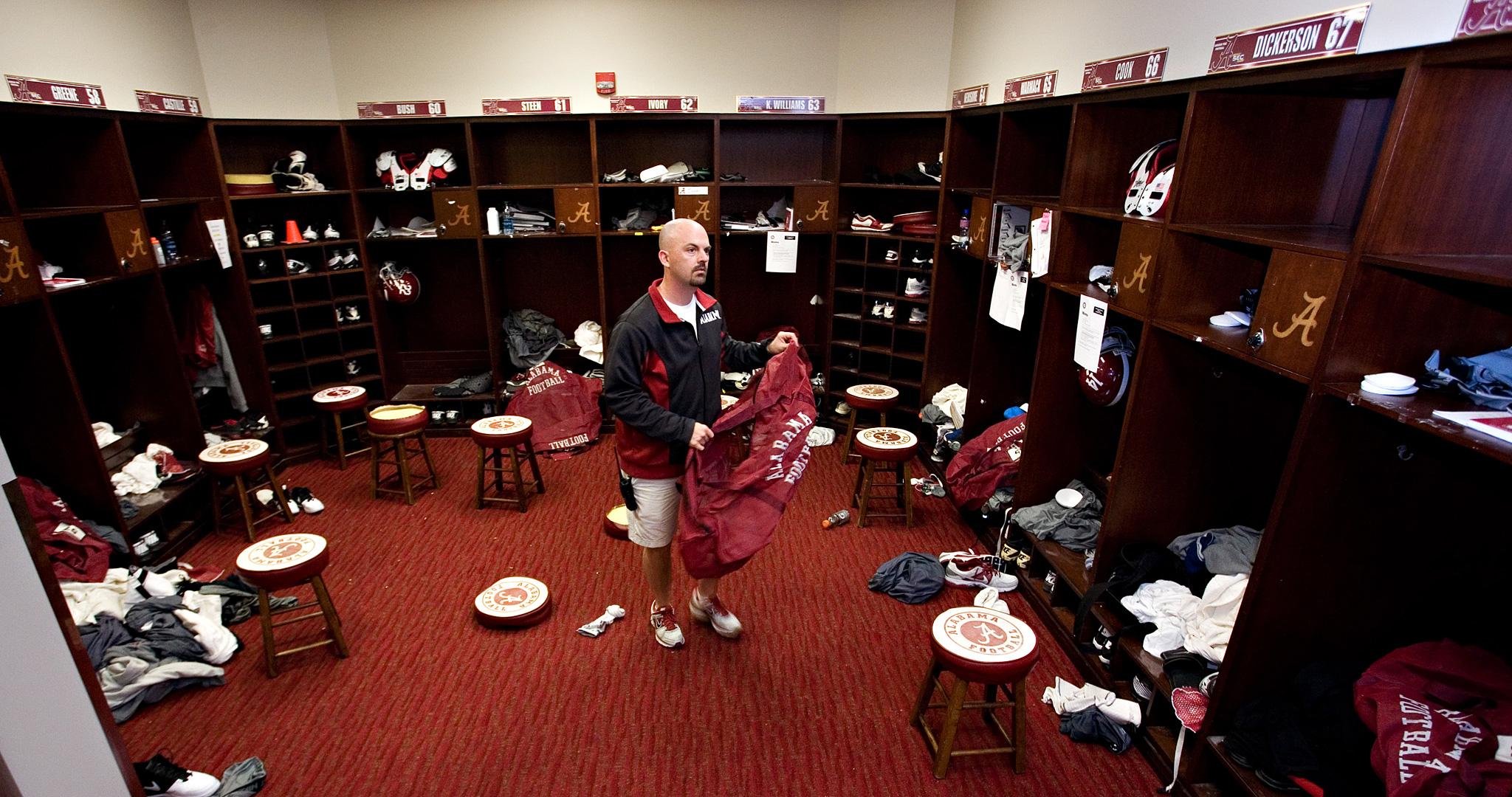 Alabama equipment manager, Jeff Springer