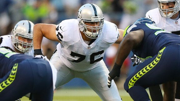 Raiders OL Lucas Nix played in preseason games but hasn't appeared yet in a regular-season game.