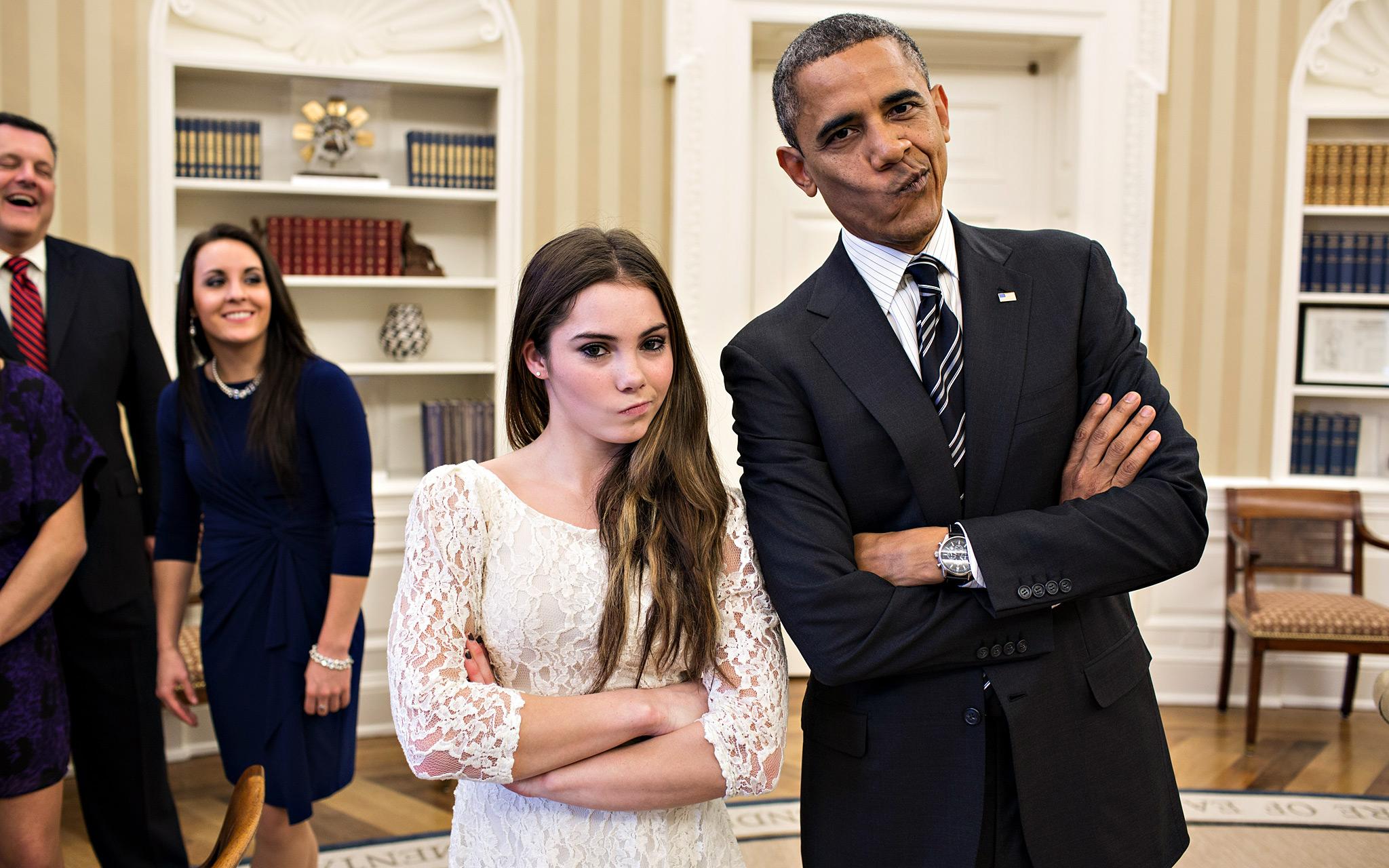 President Barack Obama, McKayla Maroney