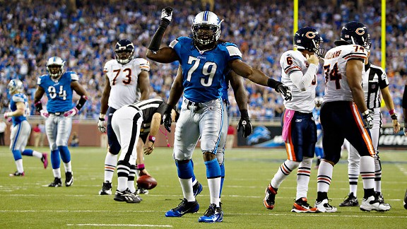 Lions defensive end Willie Young's sack dance is includes an ode to his favorite hobby, fishing.