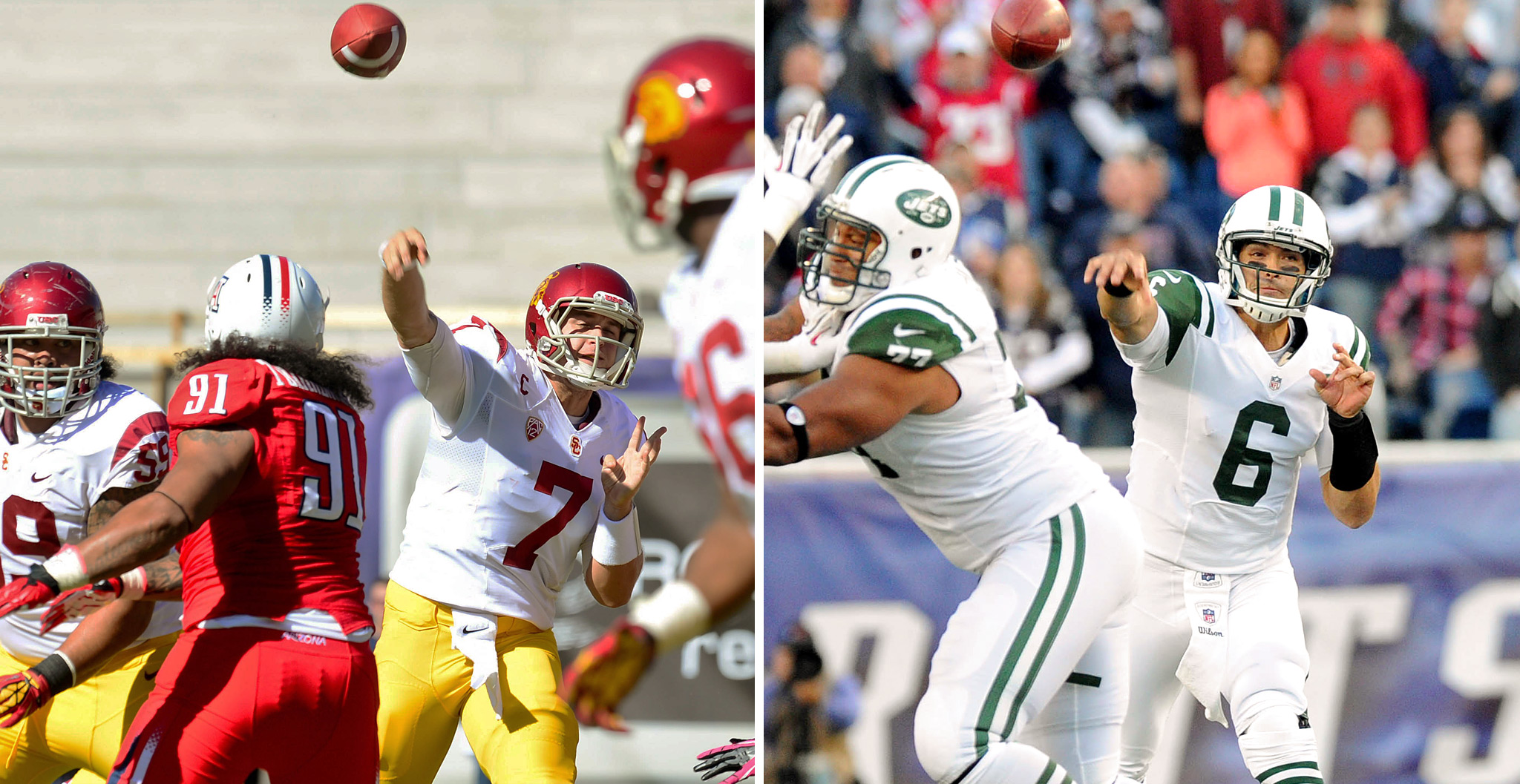 Matt Barkley, USC/Mark Sanchez, NY Jets