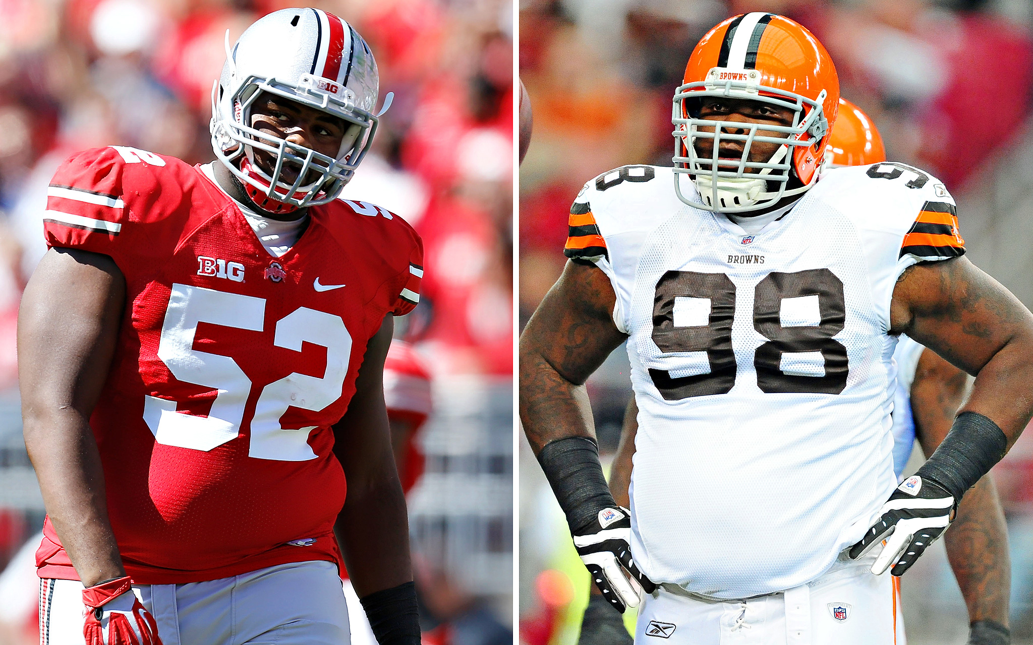 Johnathan Hankins, Ohio State/Phil Taylor, Cleveland