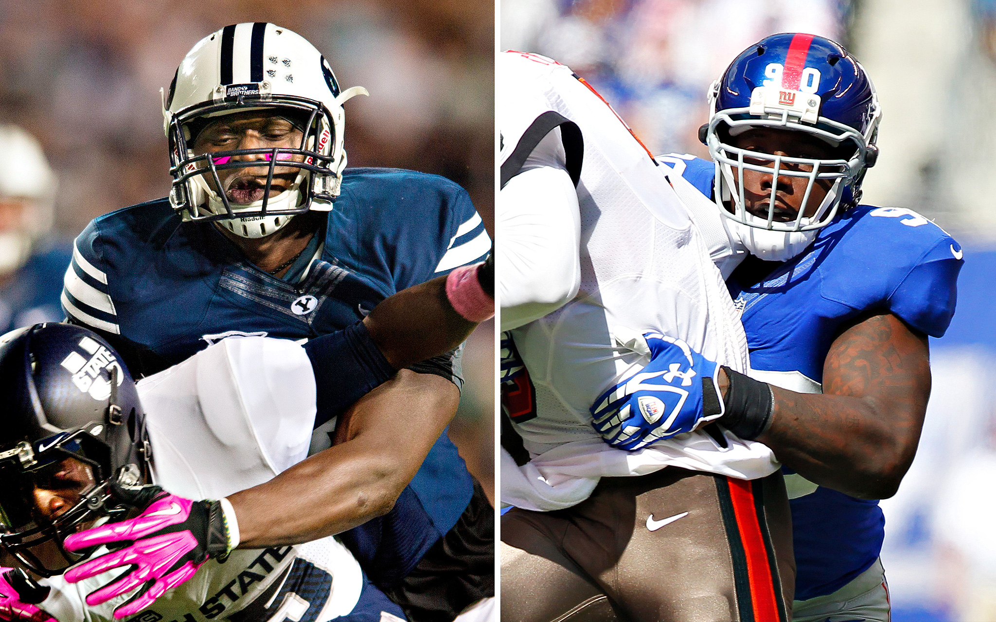 Ezekiel Ansah, BYU/Jason Pierre-Paul, NY Giants
