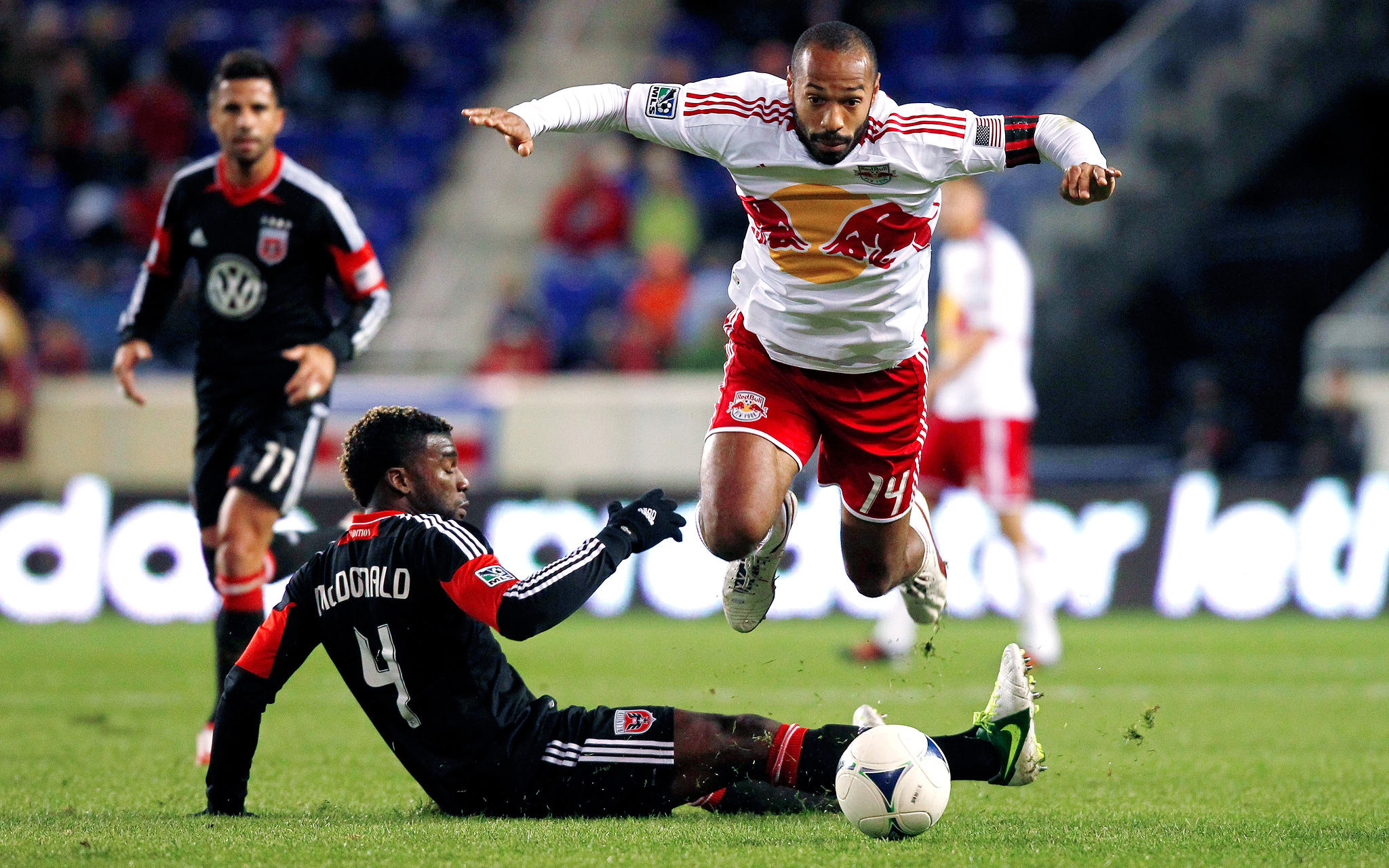 Thierry Henry and Brandon McDonald