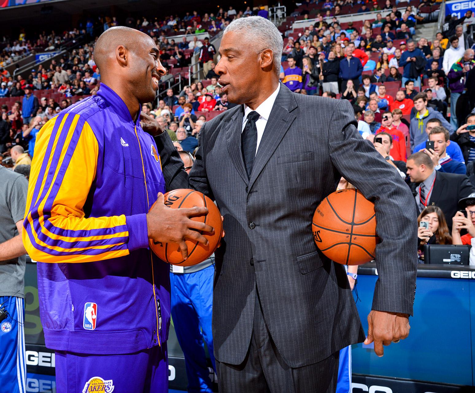 Kobe Bryant and Julius Erving
