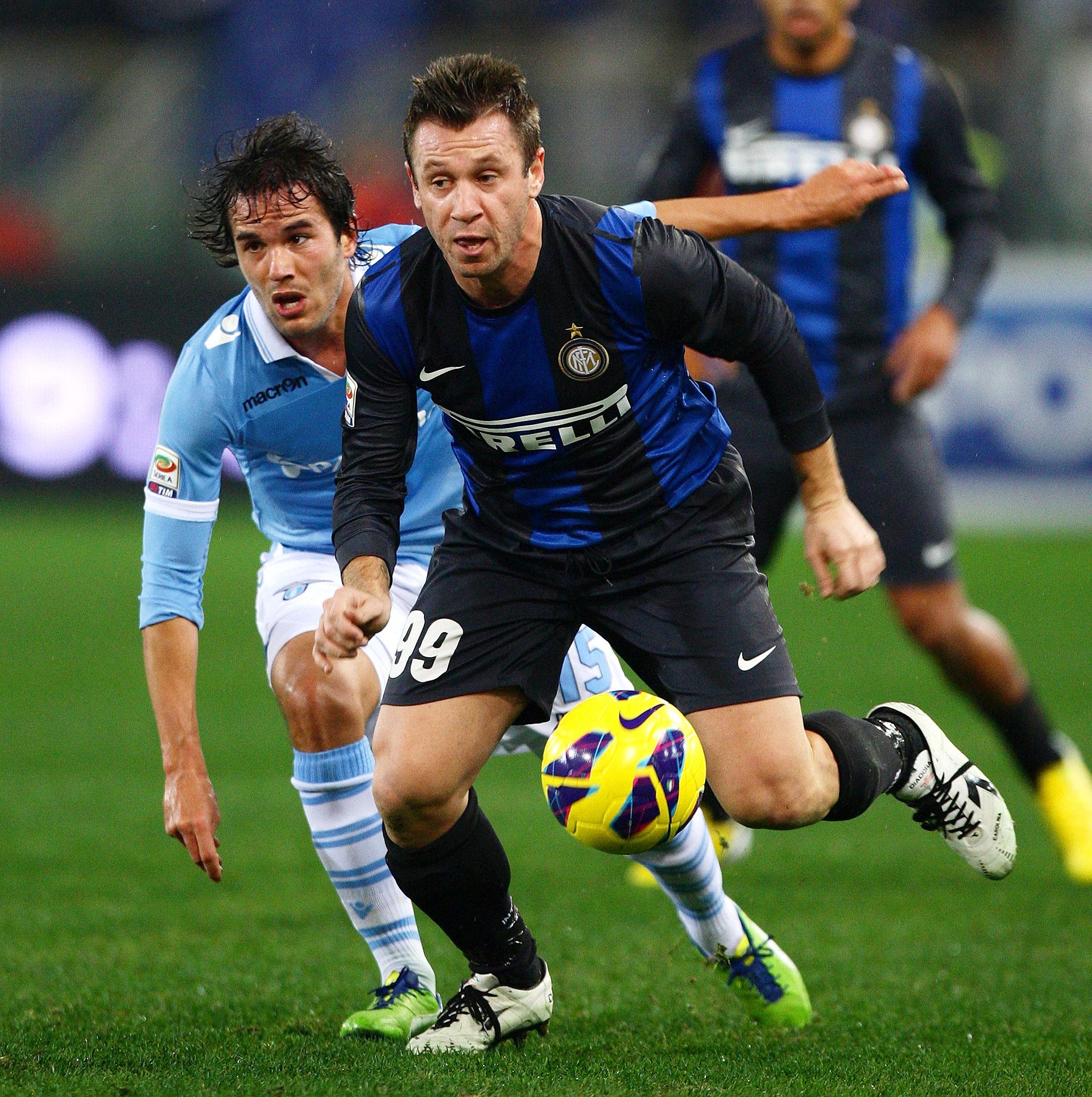 Alvaro Gonzalez and Antonio Cassano
