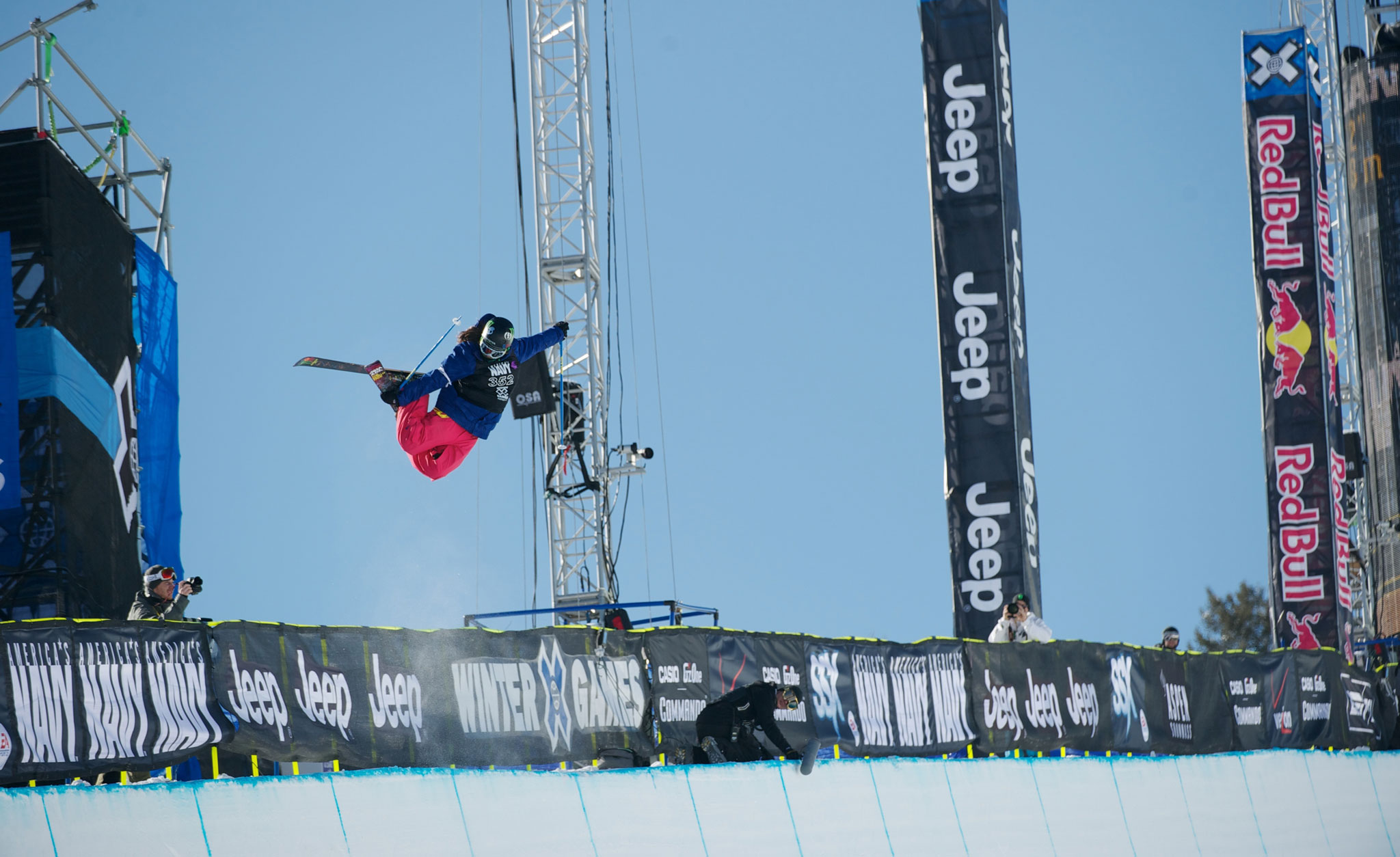 Devin Logan during the Ski SuperPipe finals at Winter X Aspen last year.