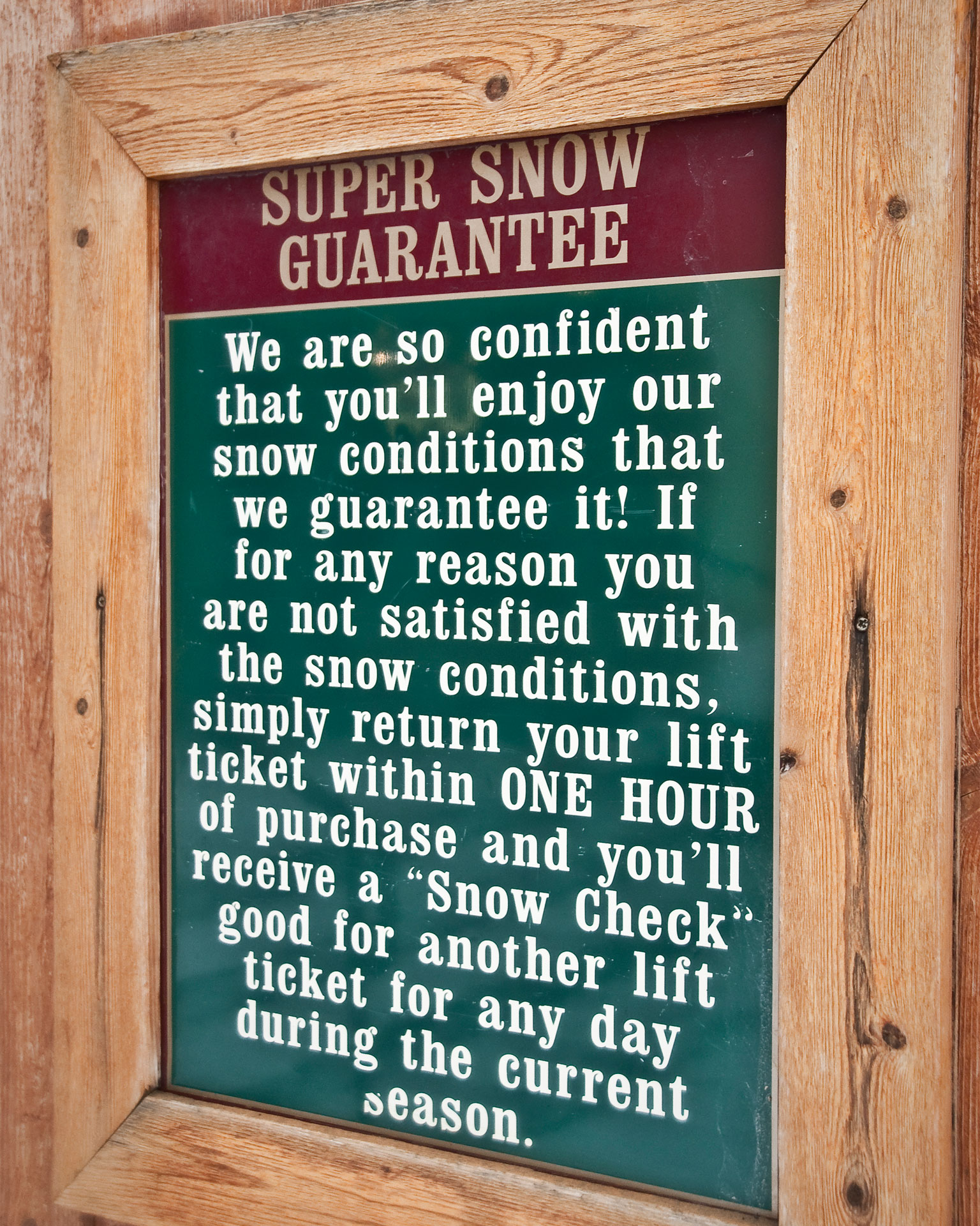 Snow Guarantee.
