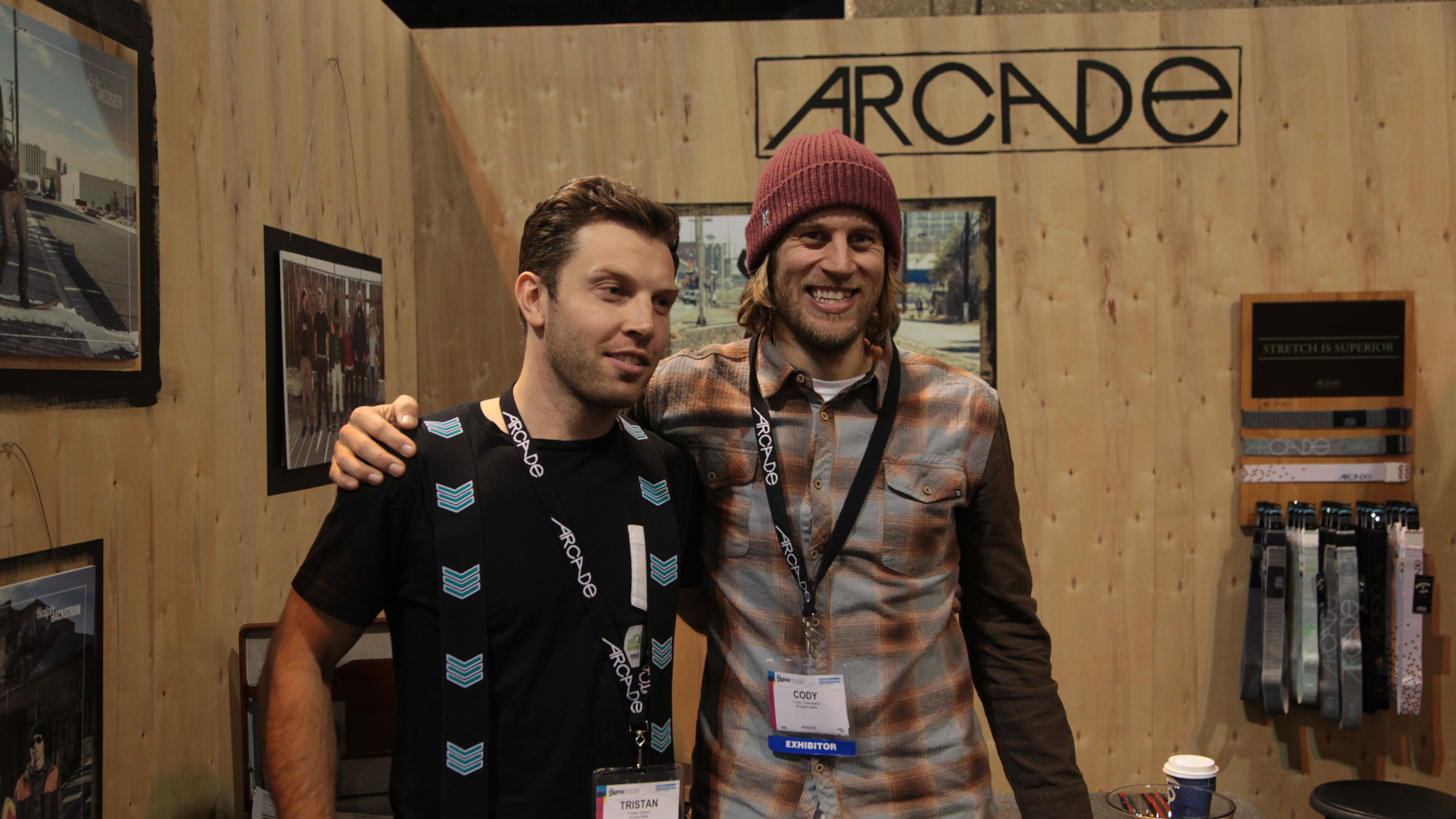 Pro skier Cody Townsend (right) and Tristan Queen, co-founders of Arcade Belts.