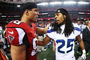 Tony Gonzalez's postgame speech? A winner. Richard Sherman's in-game reaction to opponent's celebration? Not so much.