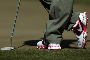 Rory McIlroy wore the Nike shoes Friday, but ditched the Nike Method in favor of his old Titleist Scotty Cameron.
