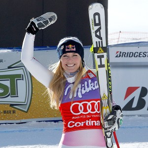 Lindsey Vonn's triumph was for her first World Cup win in more than five weeks. It was a great feeling today to come down and see No. 1, she said.