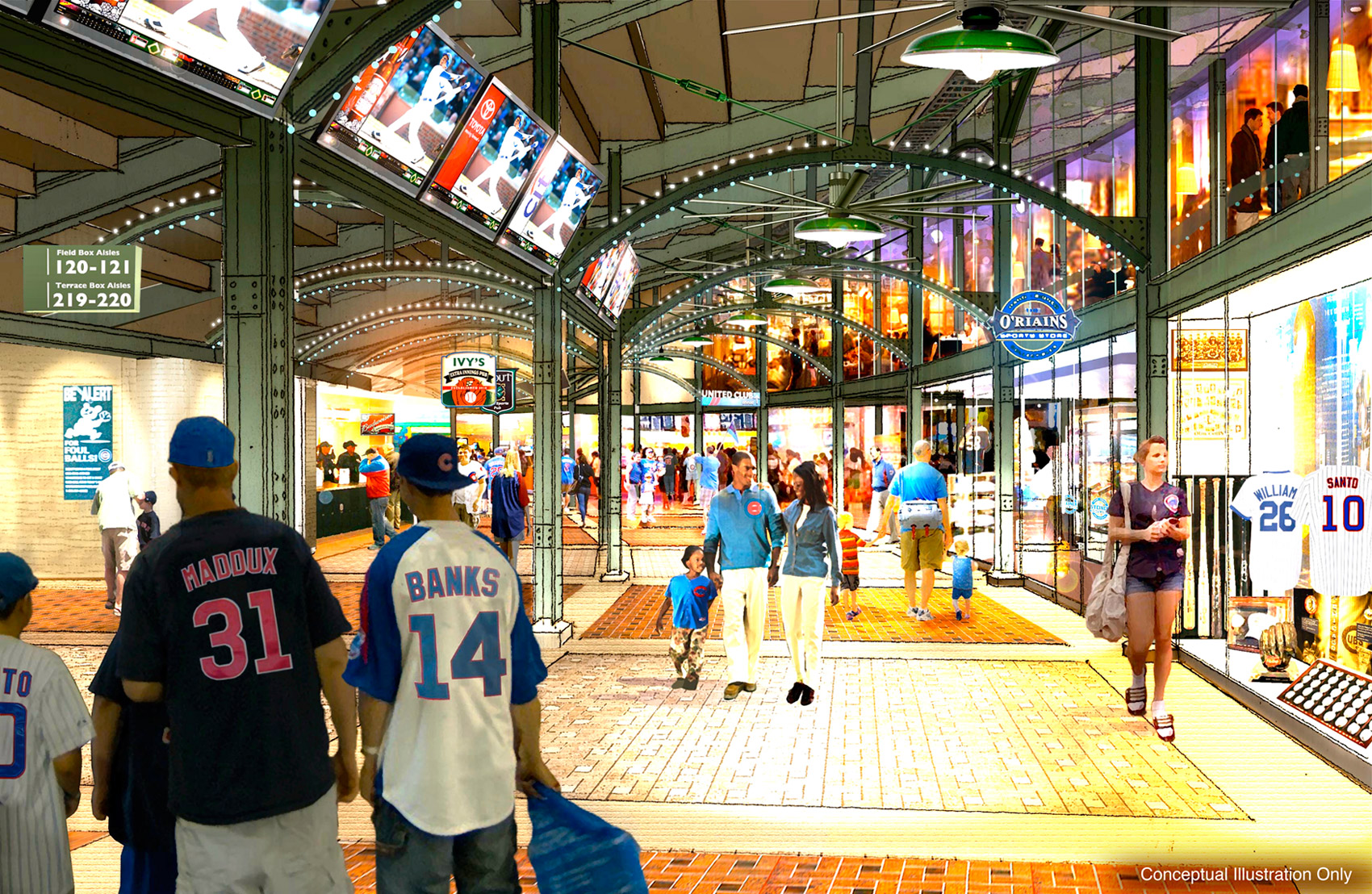 Wrigley Renderings - Concourse View