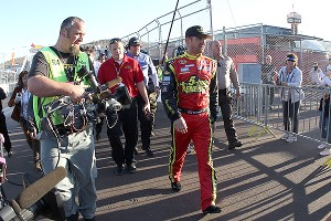 When Clint Bowyer took off after Jeff Gordon at Phoenix, Bowyer's sponsor saw an opportunity, not a problem.