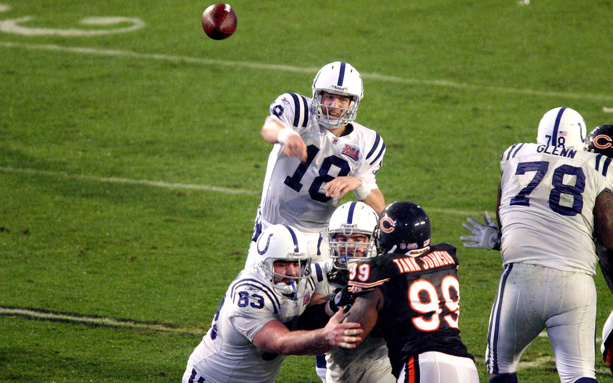 Peyton Manning - Super Bowl XLI (25/38, 247 yards, 1 TD, 1 INT)