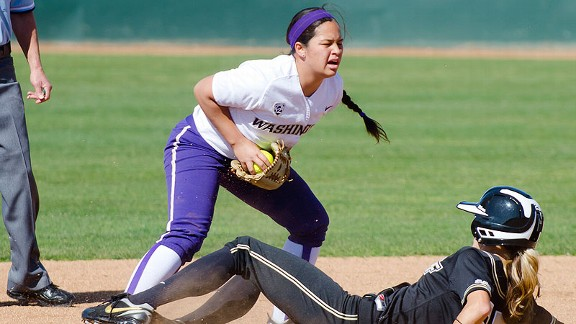 Kimberlee Souza was one of three freshman to start in the infield for the Huskies last season.
