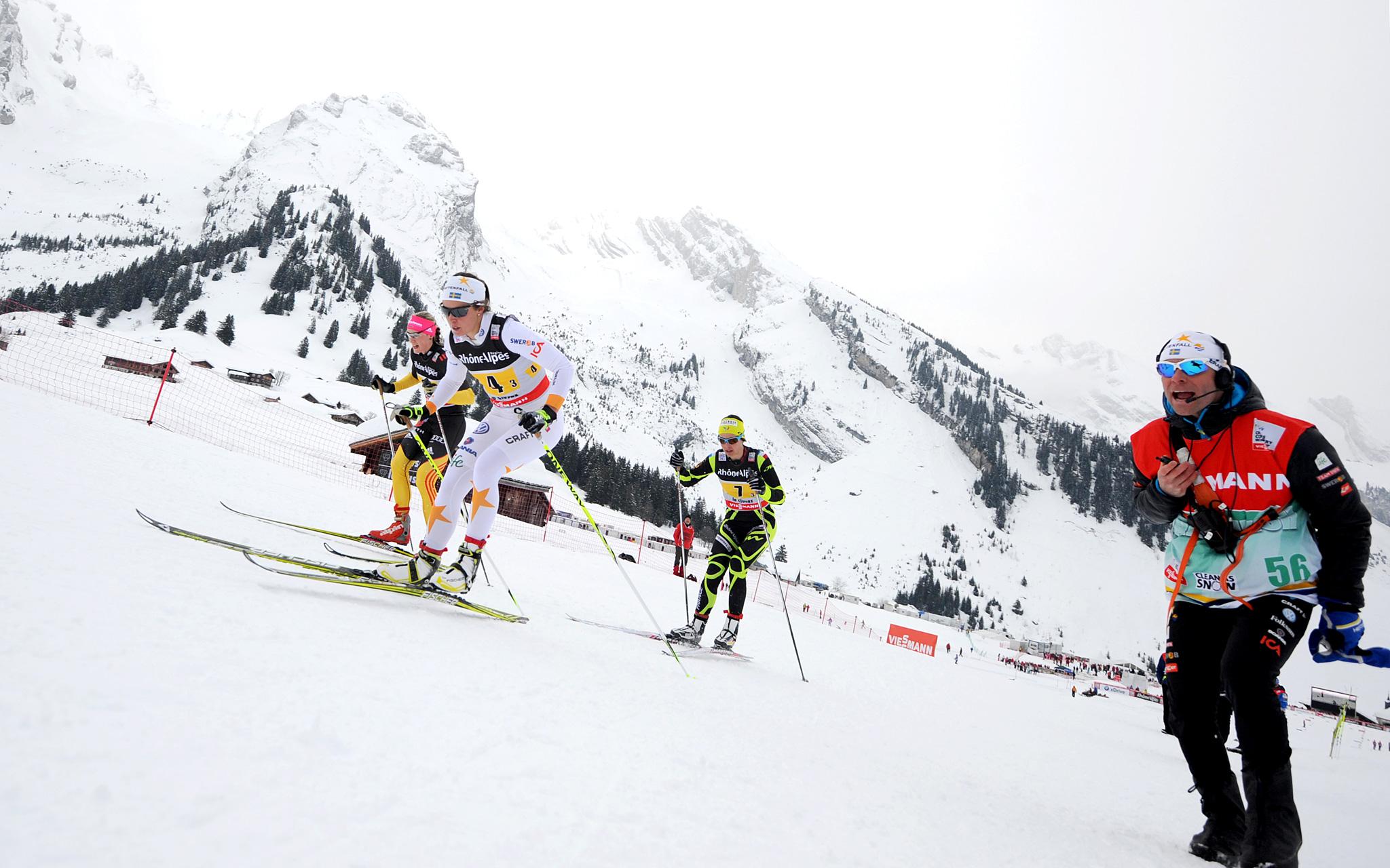 Nordic skiing combined