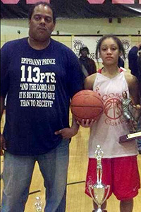 The late Apache Paschall was like a father to his star guard Bianca Cuevas.