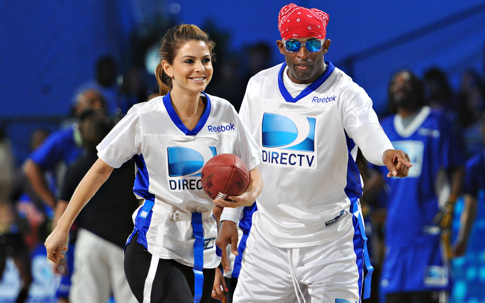 Deion Sanders and Maria Menounos