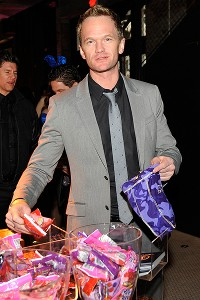 Neil Patrick Harris was among the famous -- unmasked -- faces spotted at the Playboy Party.