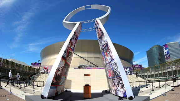 With monuments and monolithic buildings, Super Bowl cities serve as rotating capitals.