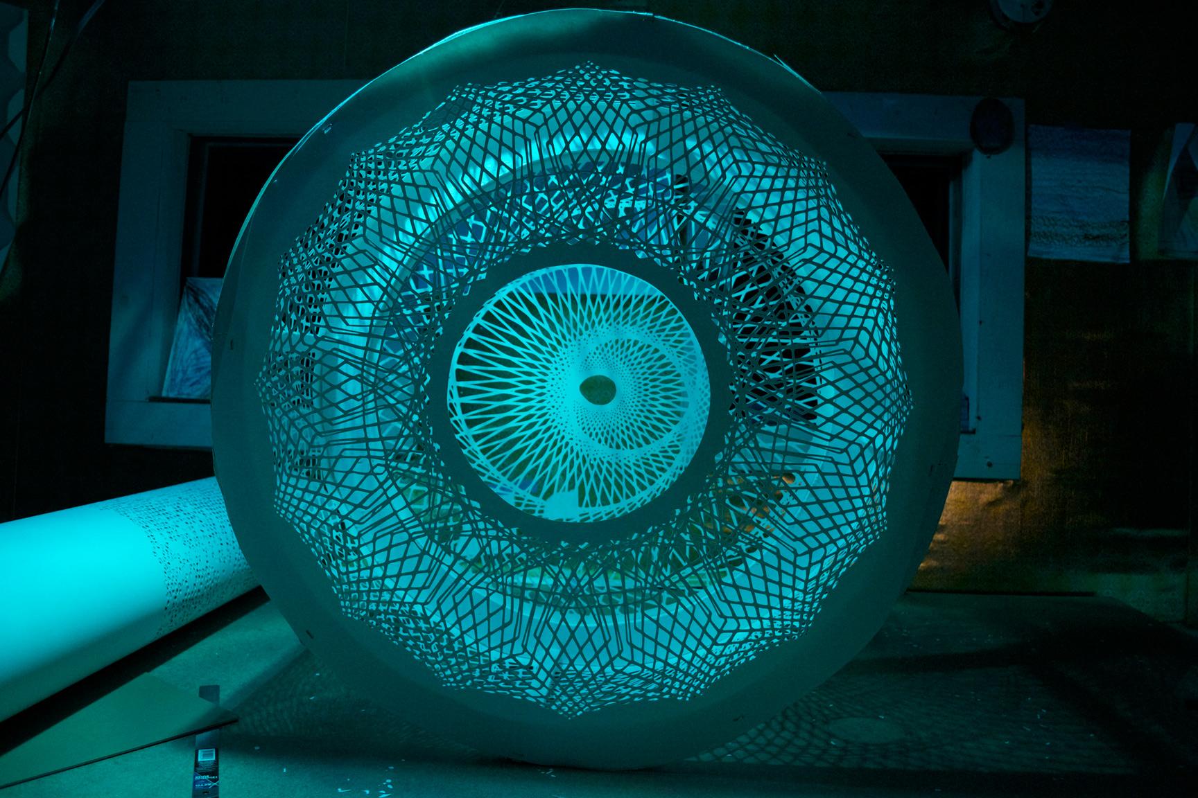 Moire Lantern