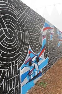 Kaka'ako mural by Aaron Dela Cruz, 2012.