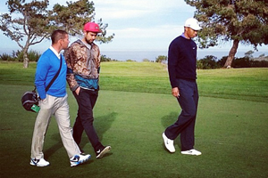Sean Foley, Eric Koston and Tiger Woods